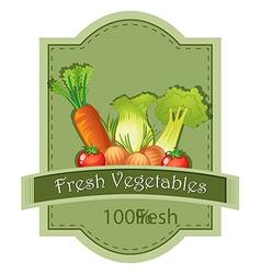 Fresh vegetables label vector image vector image