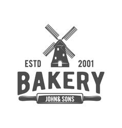 Vintage retro bakery logo badge or label vector