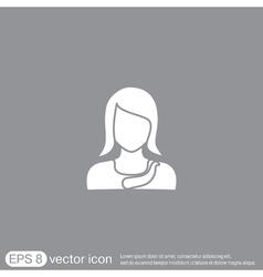 A female avatar Avatar of a woman vector image