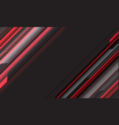 abstract red grey speed line geometric cyber vector image