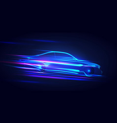 Abstract speed race car vector