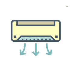 Air conditioner icon design 64x64 perfect pixel vector