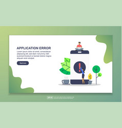 Application error concept with tiny people vector