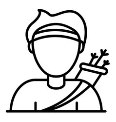 Arch man icon outline style vector