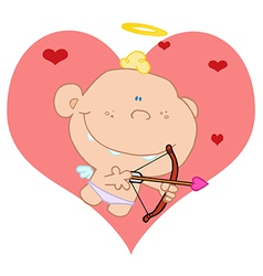 Baby Cupid Shooting Arrows vector image