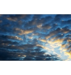 Beautiful cloudscape vector image
