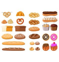 big bread icons set vector image
