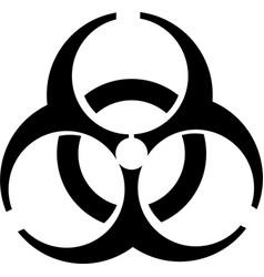 biohazard icon symbol vector image