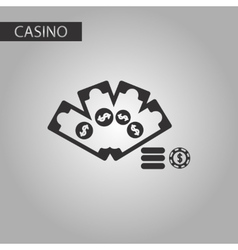 Black and white style Money dice chip vector