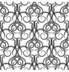 Black and white vintage ornamental greek vector