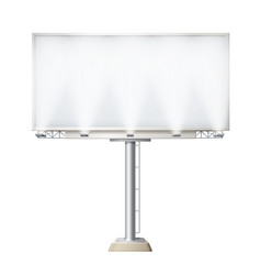 blank white billboard vector image