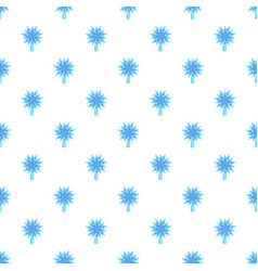 blue star fir tree pattern seamless vector image