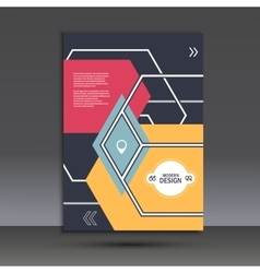 Brochure template with an abstract design of vector