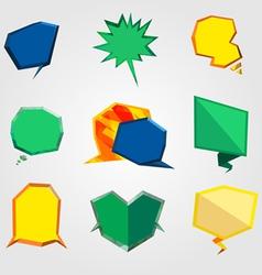 bubble text polygon vector image