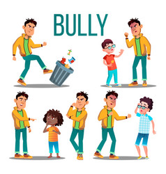 bully child angry bully kid teenager vector image