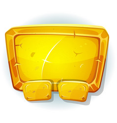 cartoon gold sign for ui game vector image