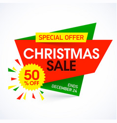 Christmas sale banner special offer vector