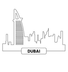 Cityscape of dubai vector