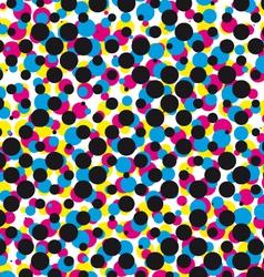 cmyk halftone dot pattern vector image