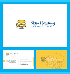 coins logo design with tagline front and back vector image