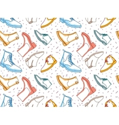 Colored shading boots seamless pattern vector image