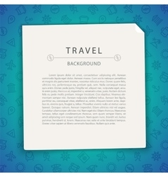 Colorful Travel Background with Copy Space vector