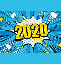 comic new year background vector image