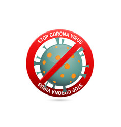 covid19-19 ban icon design vector image