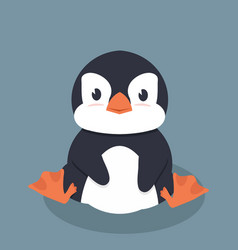 cute little penguin vector image
