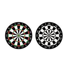 Darts board target vector