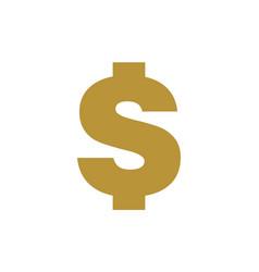 dollar gold logo icon vector image
