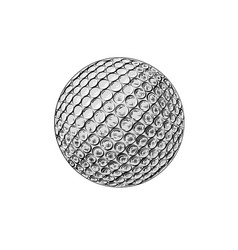 drawing golf ball in color isolated vector image