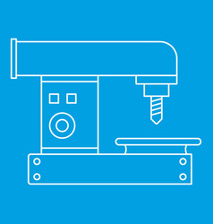 Drilling machine icon outline style vector