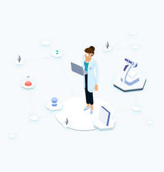 ee health blockchain vector image