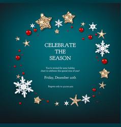fairy festive wreath vector image