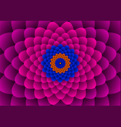 Floral spirals vector