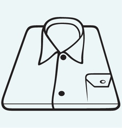 Folded shirt vector