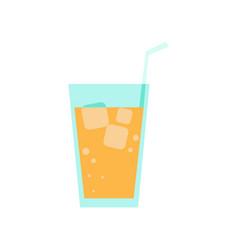 fresh orange juice simple flat vector image
