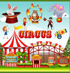 funfair object and background vector image