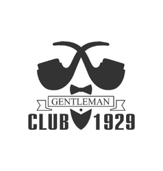 Gentleman club label design with pipes vector