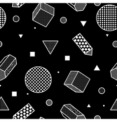 Geometric trendy 80s retro seamless pattern vector image