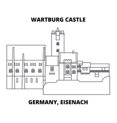 Germany eisenach wartburg castle line ico vector