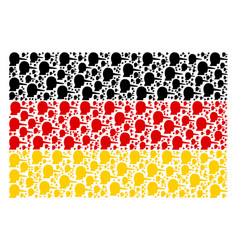 Germany flag collage of lier items vector