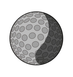 Golf ball isolated vector