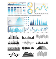 graphics and flowcharts schemes and charts set vector image