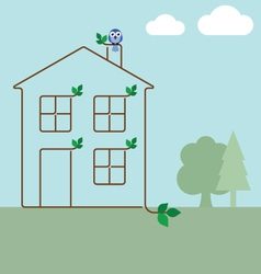 Green ecology house vector