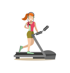 gym people concept in flat vector image