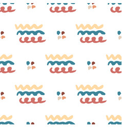 hand drawn seamless abstract pattern wavy vector image
