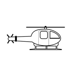 Helicopter flat vector