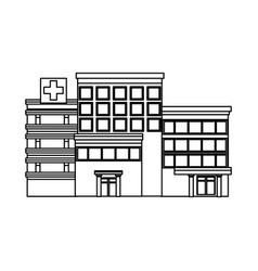 hospital building high detailed medicine vector image